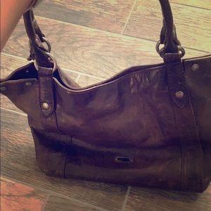 Dark brown Frye shoulder bag